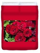 Red Lavaglut Lavaglow Floribunda Roses Duvet Cover