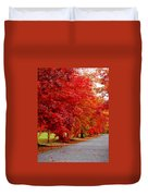 Red Leaf Road Duvet Cover