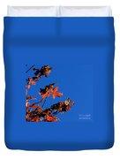 Red Leaves Blue Sky Duvet Cover