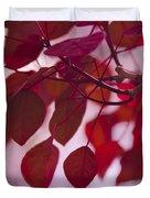 Red Leaves - Euphorbia Cotinifolia - Tropical Smoke Bush Duvet Cover