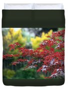Red  And  Yellow  Leaves  Duvet Cover