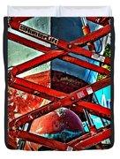 Red Lift Duvet Cover