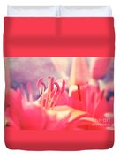 Red Lilies  Duvet Cover