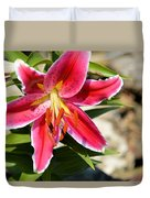 Red Lilly 8095 Duvet Cover