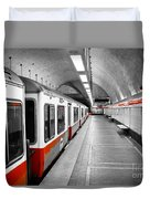 Red Line Duvet Cover