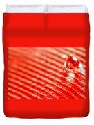 Red Lined Duvet Cover