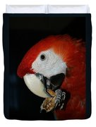 Red Macaw Duvet Cover