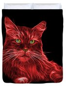 Red Maine Coon Cat - 3926 - Bb Duvet Cover