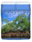 Red Mangrove East Coast Brazil Duvet Cover by Pete Oxford