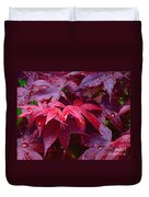 Red Maple After Rain Duvet Cover