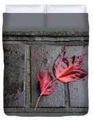 Red Maple Bricks Duvet Cover