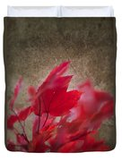 Red Maple Dreams Duvet Cover