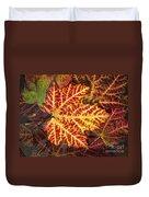 Red Maple Leaf Duvet Cover