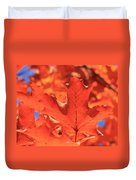 Peak Color Maple Leaves Duvet Cover