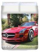 Red Mercedes Benz Duvet Cover