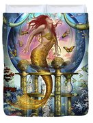 Red Mermaid Duvet Cover