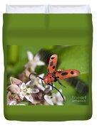 Red Milkweed Beetle Duvet Cover