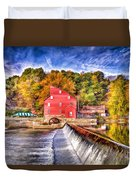 Red Mill Painted Duvet Cover