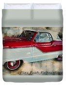 Red Mini Nash Vintage Car Duvet Cover