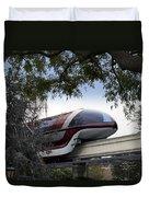 Red Monorail Disneyland 01 Duvet Cover