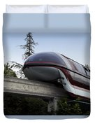 Red Monorail Disneyland 02 Duvet Cover