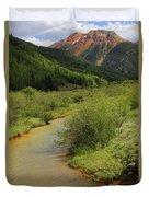 Red Mountain Creek - Colorado  Duvet Cover by Mike McGlothlen