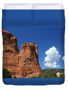 Red Mountain Garden Of The Gods  Colorado Duvet Cover by Robert D  Brozek