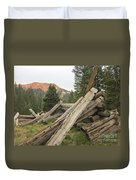 Red Mountain Ruins Duvet Cover