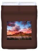 Red Mountain Sunset Duvet Cover