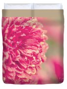 Red Mums Duvet Cover
