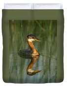 Red-necked Grebe Duvet Cover