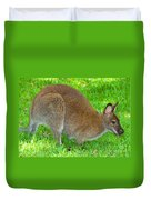 Red Necked Wallaby Duvet Cover