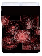 Red Neon Collage Duvet Cover