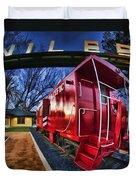 Red Niles Duvet Cover