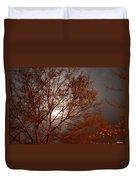 Red Oak At Sunrise Duvet Cover