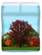 Red Oak In Loose Park Duvet Cover