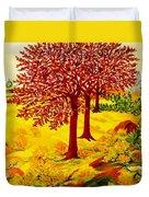 Red Oaks  Pop Art Duvet Cover