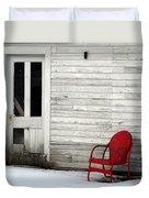 Red On White Duvet Cover