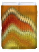 Red Orange And Yellow Glass Waves Duvet Cover