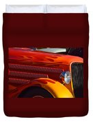 Red Orange And Yellow Hotrod Duvet Cover