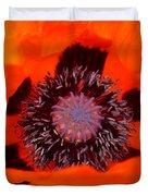 Red Oriental Poppy Duvet Cover