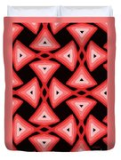 Red Ornament IIi Duvet Cover