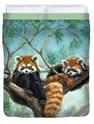 Red Pandas Duvet Cover