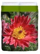 Red Pasque Flower Duvet Cover