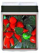Red Pepper Plant Duvet Cover