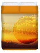 Red Planet Sunset Duvet Cover