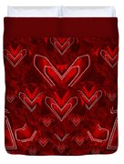 Red Pop Art Hearts Duvet Cover