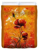 Red Poppies 023 Duvet Cover