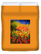 Red Poppies 45 Duvet Cover by Pol Ledent