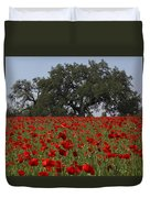 Red Poppy Field Duvet Cover